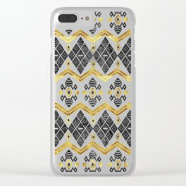 Batik Stone Gold Clear iPhone Case