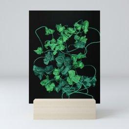 Shades of Green surreal garden landscape Mini Art Print