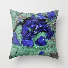 Azurite and Malachite Throw Pillow