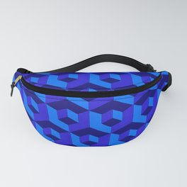 Bold Blue Cubic Fanny Pack