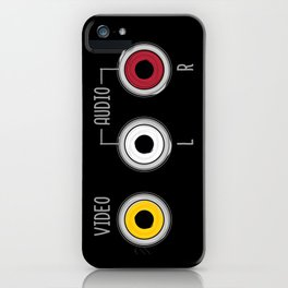 Plug in your mood! (Music + Video) iPhone Case