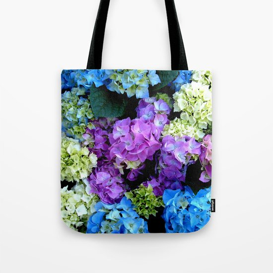Colorful Flowering Bush Tote Bag