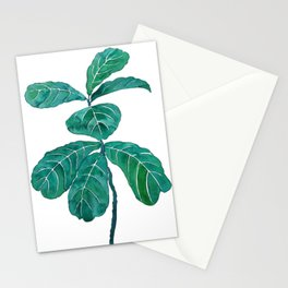 fiddle leaf fig watercolor Stationery Cards