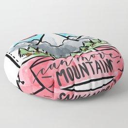 faith can move mountains Floor Pillow