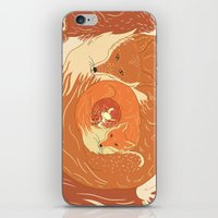 foxes iPhone & iPod Skins featuring Foxes by Beesants