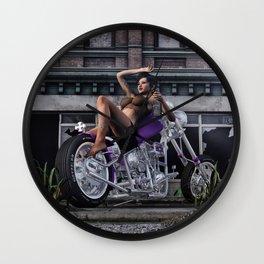 The Biker Hussy 5 Wall Clock