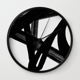 Shadow Lightning - Abstract Painting Wall Clock