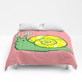 Sweetie Greenie Snail Comforters