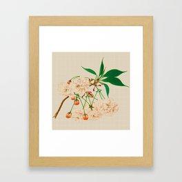 Fugen's Elephant Cherry Blossoms Framed Art Print