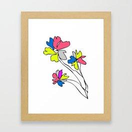 Flower yf2049 Framed Art Print