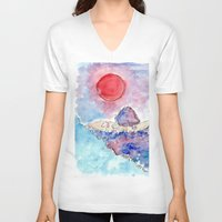 country V-neck T-shirts featuring COUNTRY by augusta marya