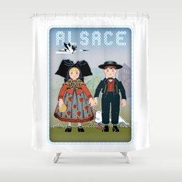 Children of Alsace Shower Curtain