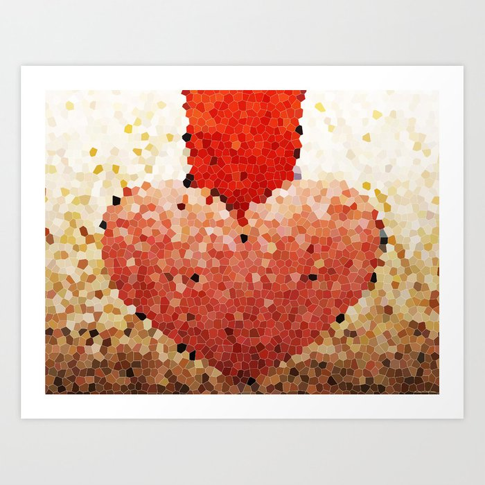 """Chipped Heart"" Art Print"