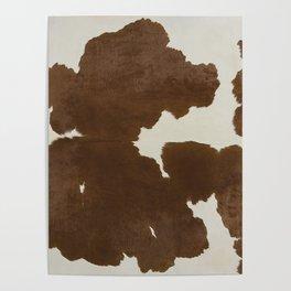 Dark Brown & White Cow Hide Poster