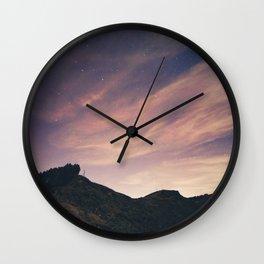Cloudy night sky Wall Clock