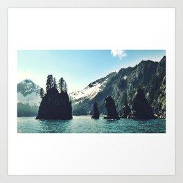 Kenai Fjords National Park: Standing Stones Art Print