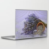 lavender Laptop & iPad Skins featuring Lavender by Fran Walding