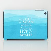 percy jackson iPad Cases featuring Live it myself - book quote from Percy Jackson and the Olympians by book quay
