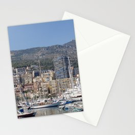 Monte Carlo, Monaco Harbor and Maritime Alps Stationery Cards