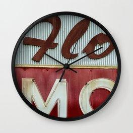 Flo Mo Wall Clock