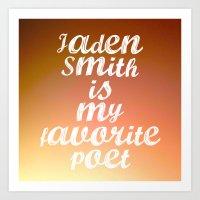 Favorite Series: Jaden Smith is my favorite poet Art Print