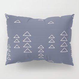 Modern Minimalist Triangle Pattern in Slate Blue Pillow Sham