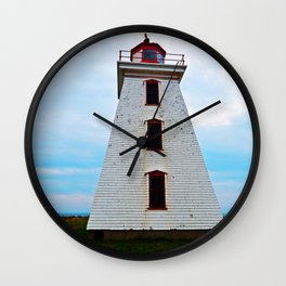 Lighthouse of Cape Egmont and the Strait Wall Clock