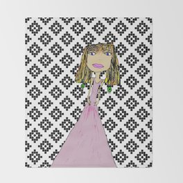 Pink Lady from Casablanca Throw Blanket