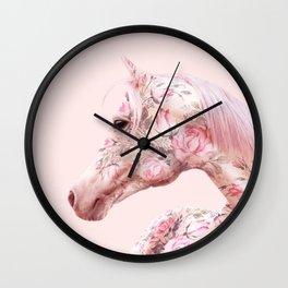 FLORAL HORSE Wall Clock