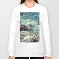 swimming Long Sleeve T-shirts featuring SWIMMING by Marte Stromme