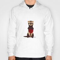 ferret Hoodies featuring Lovely Ferret by Olluga