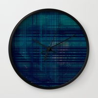 moss Wall Clocks featuring MOSS by Mike Maike