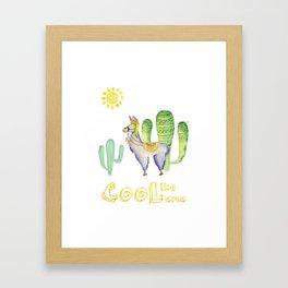 Cool like Lama Framed Art Print