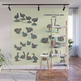 Cloisonne enamel animals China Poster, by Adam Asar Wall Mural