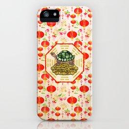 Watercolor Tortoise / Turtle Feng Shui on Bagua iPhone Case