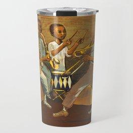 African American Masterpiece 'Harlem Musicians' by Elizabeth Olds Travel Mug