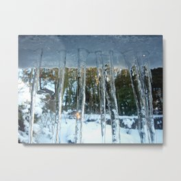 Brinscall Icicles Metal Print