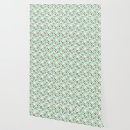 Pastel Cafe Mint Cream Wallpaper