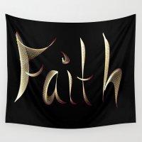 faith Wall Tapestries featuring Faith by Tina Vaughn