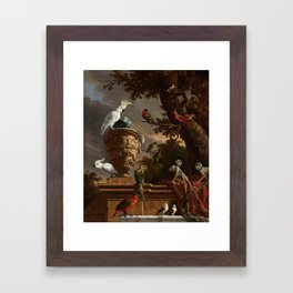 The Menagerie, Melchior d'Hondecoeter, c. 1690 Framed Art Print