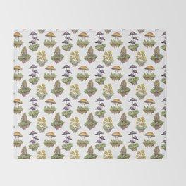Mushroom Island Pattern Throw Blanket