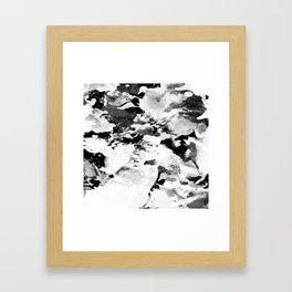 Blk Marble Framed Art Print
