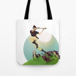 Viridian Flutist Tote Bag