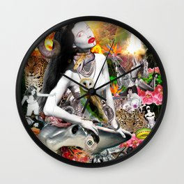 Jungle Melodrama Wall Clock