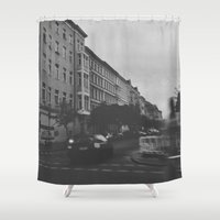soviet Shower Curtains featuring Berlin by Jane Lacey Smith
