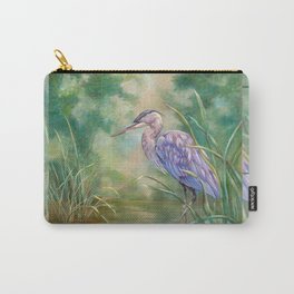 """""""Solitude"""" - Pastel of Great Blue Heron Carry-All Pouch"""