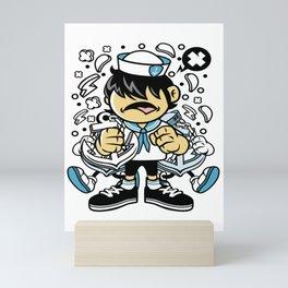 Sailor Kidfor animated characters comics and pop culture lovers Mini Art Print
