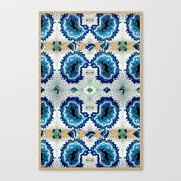 Stone pattern (Blue&Gold) Canvas Print