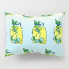 Watercolor - Iced Lemon Mint Tea Pillow Sham