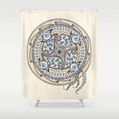 Paisley Balance Mandala Shower Curtain